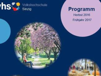 Programm Volkhochschule Sinzig