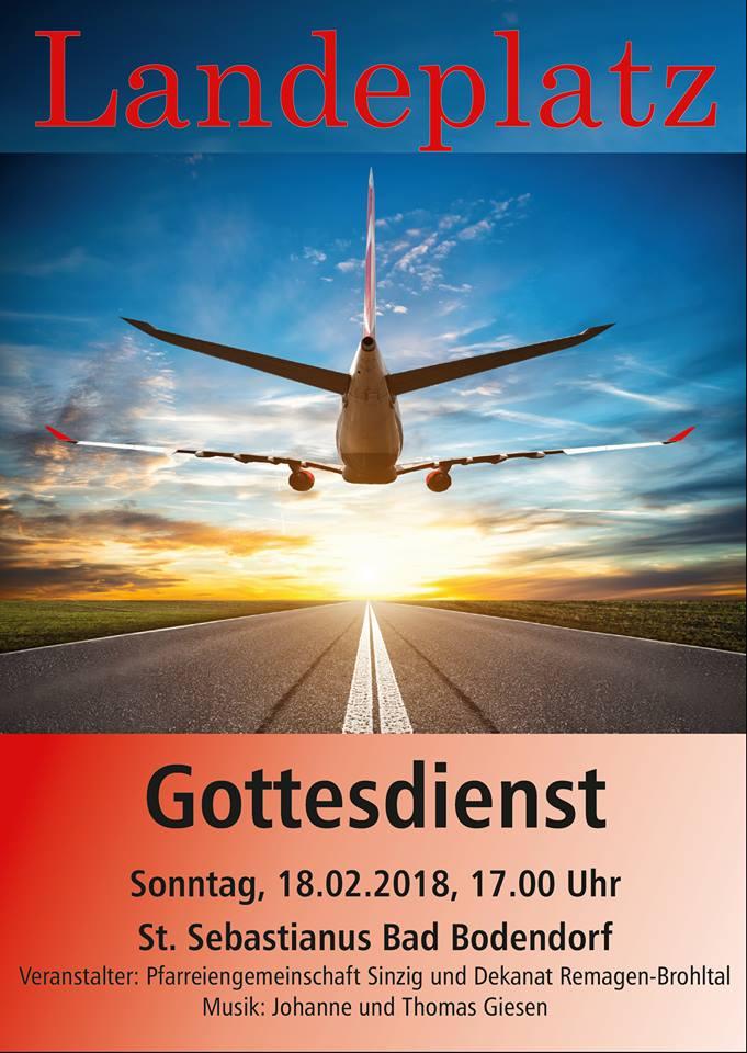 Gottesdienst zum Thema LANDEN @ Kirche St. Sebastianus | Sinzig | Rheinland-Pfalz | Deutschland