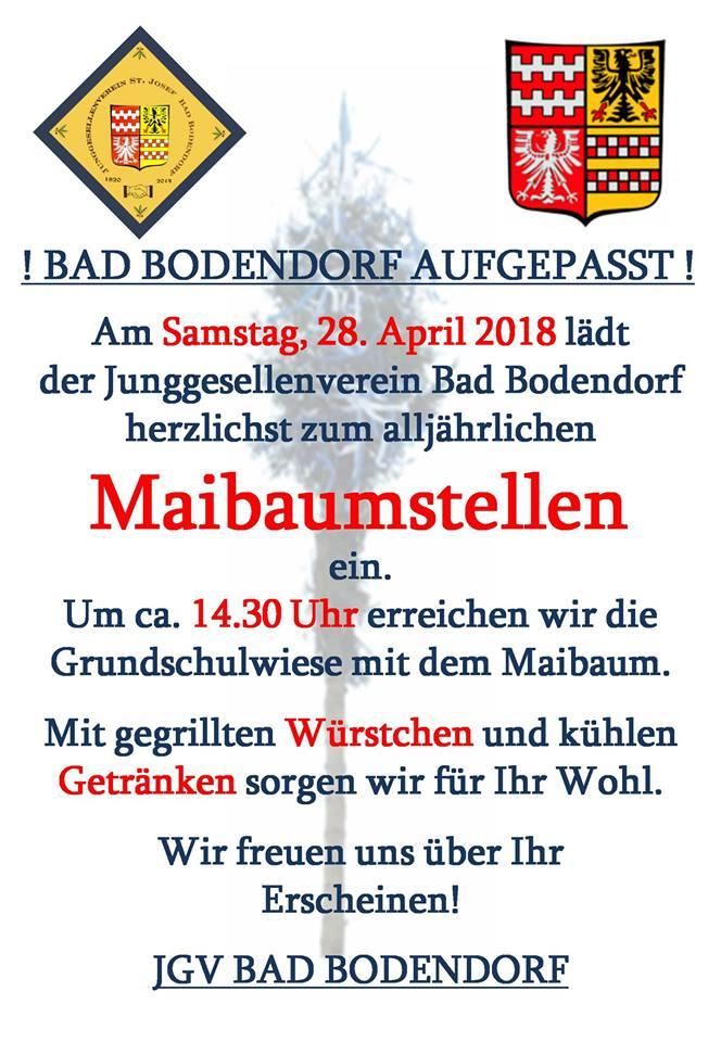 Maibaumstellen 2018 @ Schulwiese   Sinzig   Rheinland-Pfalz   Deutschland