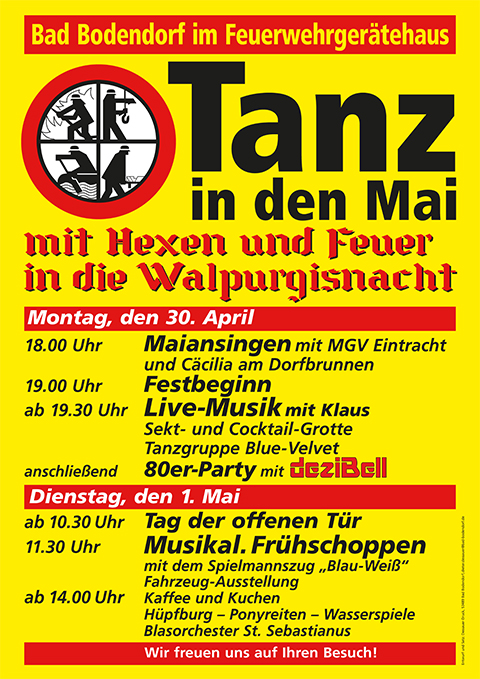 Tanz in den Mai @ Feuerwehrgerätehaus   Sinzig   Rheinland-Pfalz   Deutschland