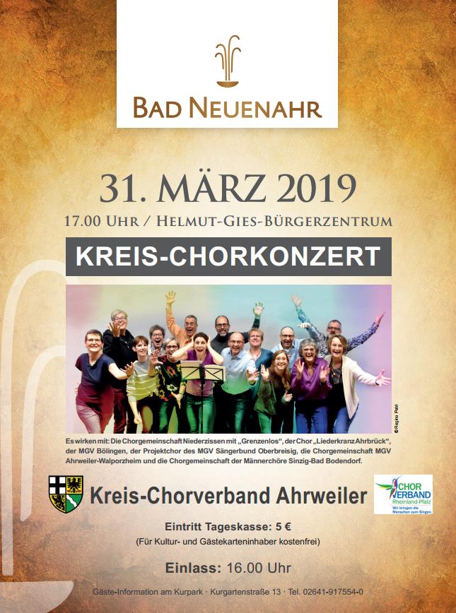 Kreis-Chorkonzert @ Helmut-Gies-Bürgerzentrum | Rheinland-Pfalz | Deutschland