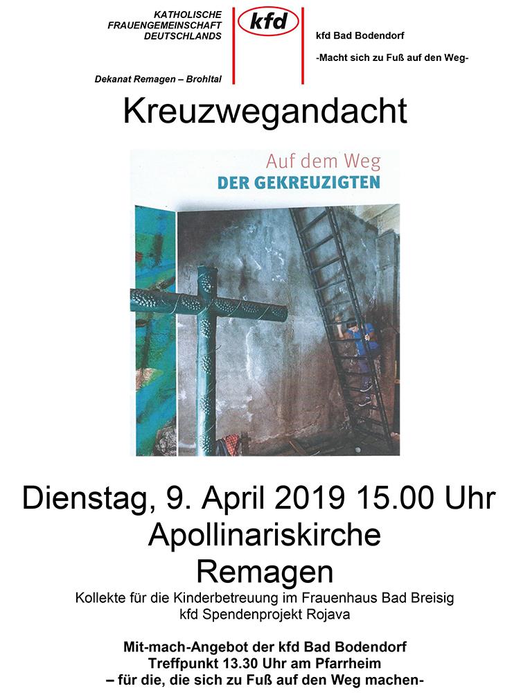Kreuzwegandacht @ Treffpunkt Pfarrheim   Sinzig   Rheinland-Pfalz   Deutschland